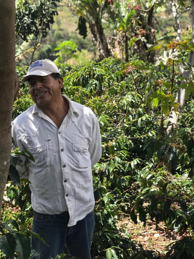 Koffieboer in Colombia Buesaco